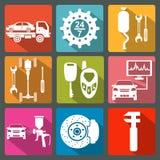 Set of car service icons Stock Photo