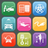 Set of car service icons Stock Images