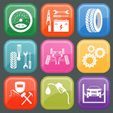 Set of car service icons Stock Photo