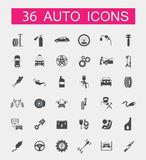 Set of car service icons Royalty Free Stock Photo