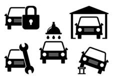 Set of car service icons. Vector illustration royalty free illustration