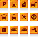 Set of Car Servise Icons. Including Vector Format vector illustration