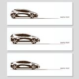 Set of car silhouettes isolated on white Royalty Free Stock Photography