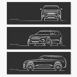 Set of car silhouettes. Royalty Free Stock Photography