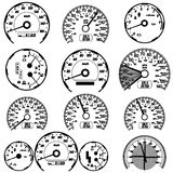 Set of car speedometers. For racing design. vector illustration Royalty Free Stock Photo