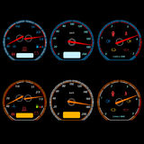 Set of car speedometers Stock Image