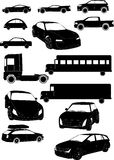 Set of car vectors Stock Photos