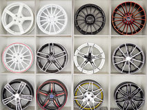 Set of car wheel disks Stock Photos
