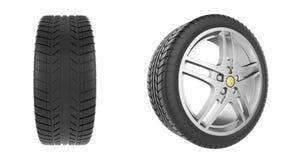 Set of car wheels Stock Image
