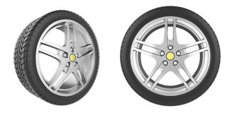 Set of car wheels Stock Photography
