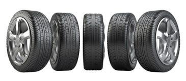 Set car wheels Stock Images
