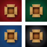 Set of card board boxes Stock Image