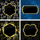 Set of  card  with golden frames - eps Royalty Free Stock Photography