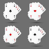 Set of card icons Royalty Free Stock Images