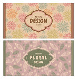 Set of card in retro style Royalty Free Stock Photos