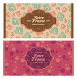 Set of card in retro style Royalty Free Stock Image