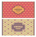 Set of card in retro style Royalty Free Stock Images