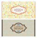 Set of card in retro style Stock Photo