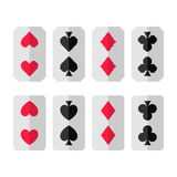 Set of card suits, hearts, clubs, spades, diamonds Royalty Free Stock Photos