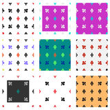 Set of card suits seamless pattern Royalty Free Stock Photos