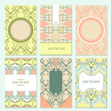 Set of  card templates Stock Image