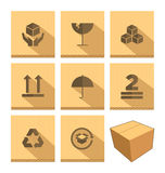 Set of Cardboard Box Icon Royalty Free Stock Image