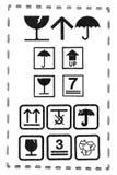 Set cardboard box symbols Stock Photo