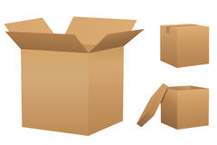 Set of cardboard boxes Stock Photos