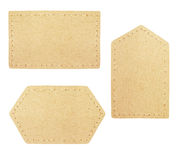 Set of cardboard labels Royalty Free Stock Images