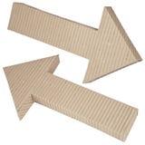 Set of cardboard navigation arrows Royalty Free Stock Photography