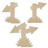 Set cardboard navigation arrows isolated Stock Image