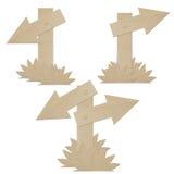 Set Cardboard Navigation Arrows Isolated Stock Image