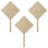 Set cardboard navigation arrows isolated Stock Photos