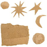 Set Cardboard Scraps isolated Stock Image