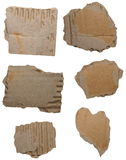 Set cardboard scraps isolated Royalty Free Stock Image