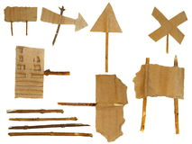 Set Cardboard Scraps navigation arrow Royalty Free Stock Photo