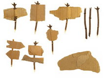 Set Cardboard Scraps navigation arrow Royalty Free Stock Photos