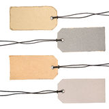 Set of Cardboard Tags. Ready for your message Stock Photo