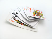 Set of Cards. A hand of cards on a white background Royalty Free Stock Photos