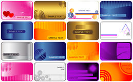 Set cards. Stock Images