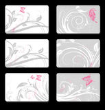Set of cards Royalty Free Stock Images