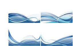 Set of cards with abstract  blue  vector Royalty Free Stock Images
