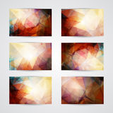 Set of cards with abstract geometric pattern Royalty Free Stock Photography