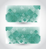 Set cards with abstract squares Royalty Free Stock Photo