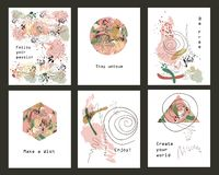 Set of cards Stock Photos