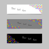 Set of Cards or Banners with Colorful Circles. Stock Photography