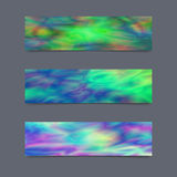 Set of Cards or Banners with Realistic Holographic Effect. Stock Photography