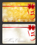 Set of cards with Christmas BALLS, stars  Stock Images