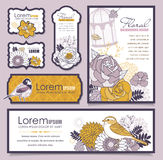 Set of cards design Stock Image