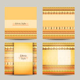 Set of cards with ethnic african design. Geometric Stock Image